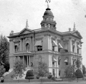 The First Tulare County Court House funded by Bonds purchased by Elias Jacob, #WS5608