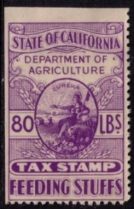 California Agriculture Tax Stamp