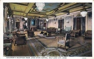 Governor's Reception Room at Utah State Capital, Vintage Postcard