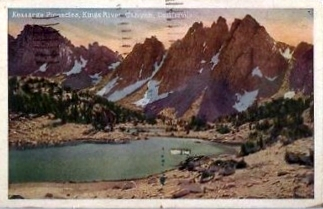 "Kings Canyon National Park. One of the peaks is ""Goldstein Peak."" Vintage Postcard"