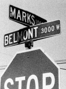 Street Sign Honoring Berhard Marks in Fresno, #WS5647