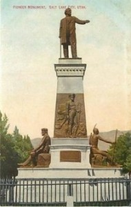 The Pioneer Monument, Salt Lake City, Postcard