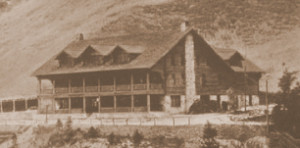 Utah Resort Hotel at the turn of the century, Old Postcard