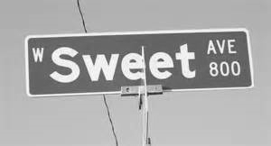 Soloman Sweet Street Sign in Visalia - Today.