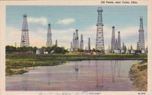 Tulsa Oil Field, Vintage Postcard