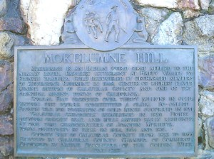 Mokelumne Hill Plaque