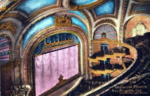 Inside the Orpheum Theatre, Los Angeles