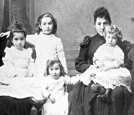 Henrietta Weill and her four children.