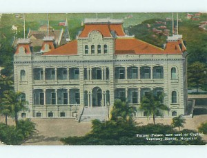 Early Hawaiian Capital Building, Vintage Postcard