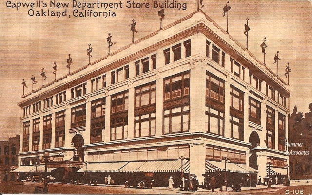 Capwell's Department Store, Oakland, Vintage Postcard