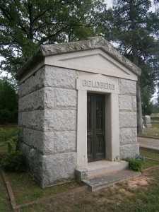 Goldberg Family Tomb in Jefferson, Texas, WS 45/4
