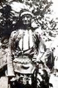 Herman Lehmann dressed as an Indian, later in life.