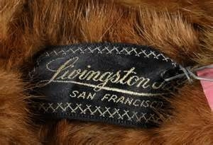 Livingston Label of Fur Coat
