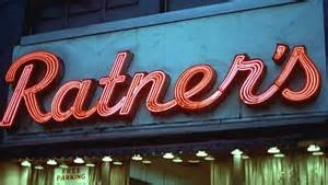 Ratner's Deli Sign, New York