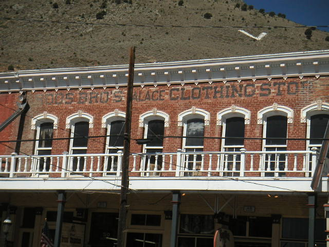 Roos Bros. Faded Name, Virginia City, 2009 WSJH Photo.