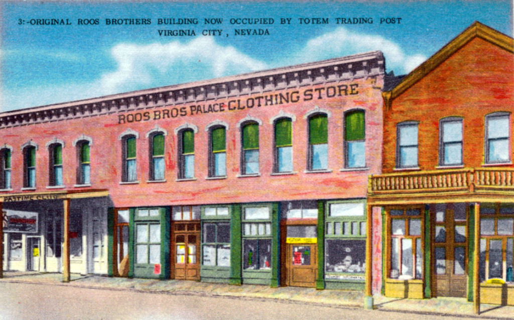 Roos Bros. Virginia City Store, Old Vintage Postcard