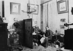 Dr. Alexander Levy in his office, San Francisco, 1900, #WS2023