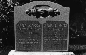 Gravesite of Anna & Wolf Marks in Salt Lake City, #WS1294