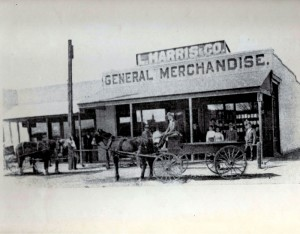 The Harris Store in Lancaster, Antelope Valley, CA circa 1913.