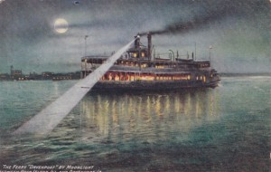 The Davenport Ferry, Vintage Postcard