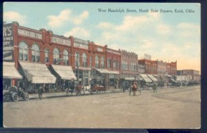 West Randolph Street in Enid, Turn of the Century, Vintage Postcard