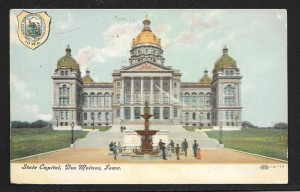 Iowa State Capital, Vintage Poctcard