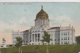 Montana State Capital, completed in 1902, Vintage Postcard
