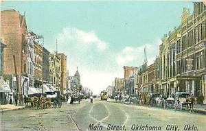Oklahoma City Main Street at Turn of the Century, Vintage Postcard