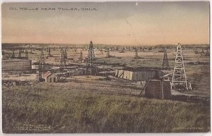 Turn of the Century Early Tulsa Oil Field, Vintage Postcard