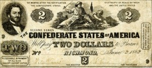 Judah Benjamin on $2 Confederate Bill
