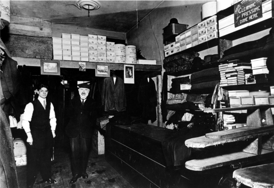 Lewis Lewis in his Store.