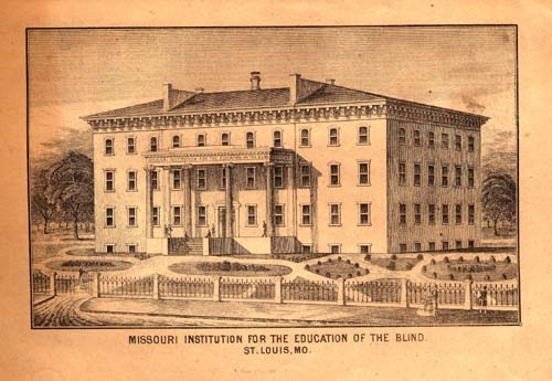 Missouri Institute for the Blind, Vintage Postcard