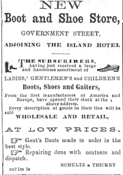 Newspaper Adv. for Shultz' Shoe Store,