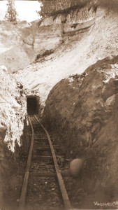 Snow Mine Entrance-Placerville,CA [1906], #WS1494