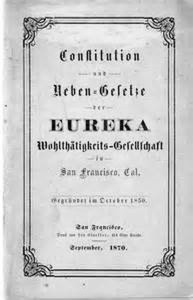Eureka Benevolent Society, Constitution in German, 1870