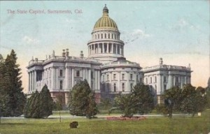 State Capital in Sacramento late 1890s, Vintage Postcard