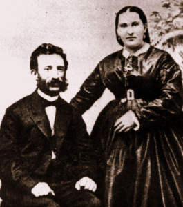 Mark & Bertha Livison, 1862, Virginia City, Nevada, #WS0211