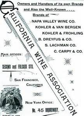 California Wine Association Flyer