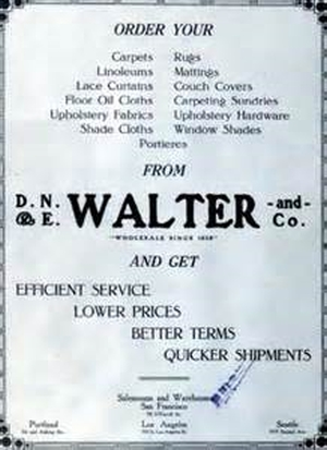 Walter D. N. E. Furniture Adv