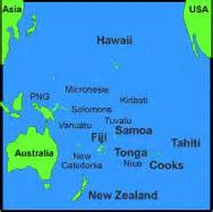 Map of Tahiti and  Nearby Islands
