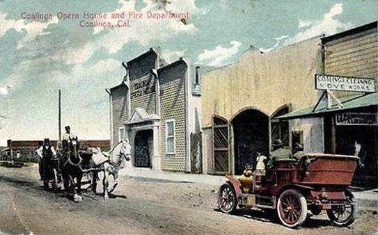 Coalinga California, Turn of the Century, Vintage Postcard