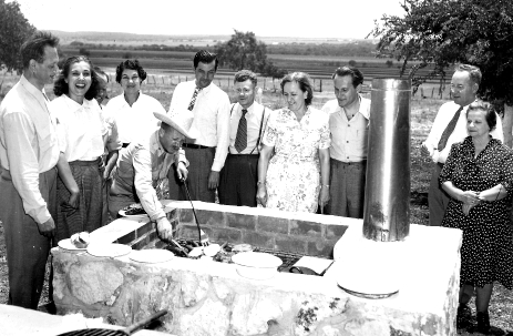 Perry Kalisher's Family at BBQ, 1940s