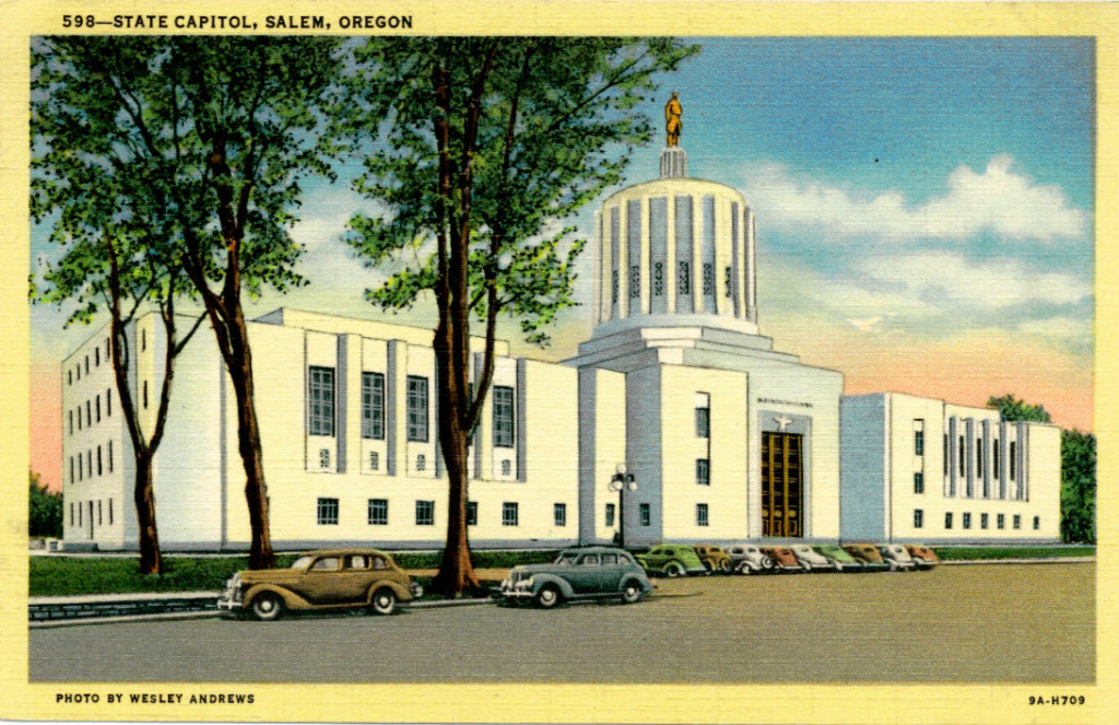 New State Capital in Salem,  Oregon, Vintage Postcard