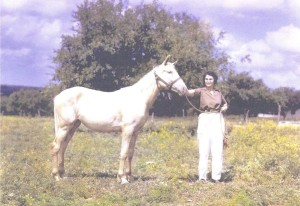 Frances Kallison with prize horse