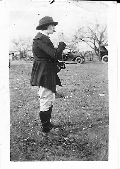 Frances Kallisher at Ranch, 1930s