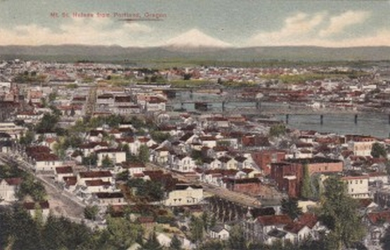 Portland Oregon at the turn of the 20th century, Vintage Postcard.