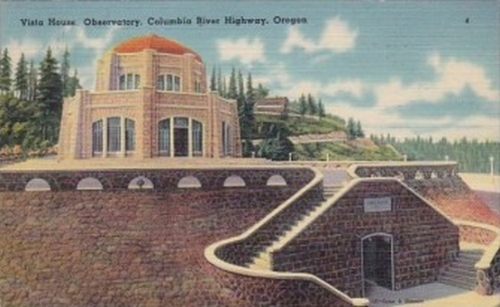 Vista House, Vintage Postcard