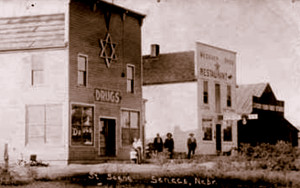 Dr. Moses Pass' Drug Store circa 1910, Vintage Postcard