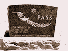 Tombstone of Dr. Moses Pass