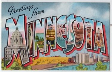 Minnesota Welcome Vintage Postcard